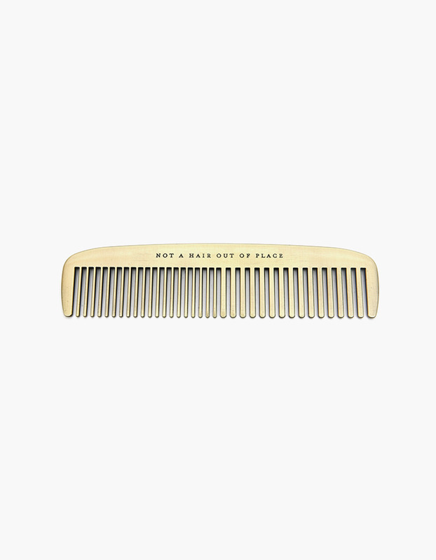Not a Hair Out of Place Brass Comb