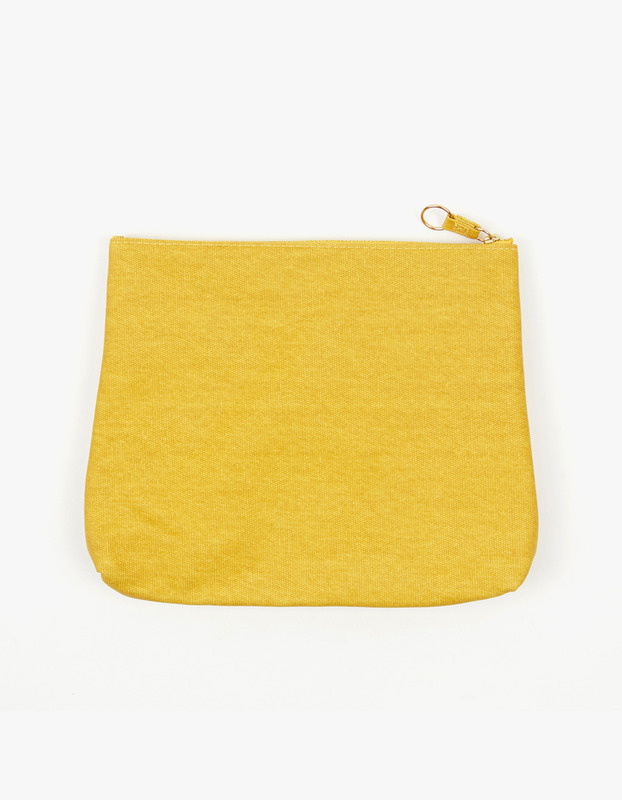 Large Guesset Pouch - Yellow