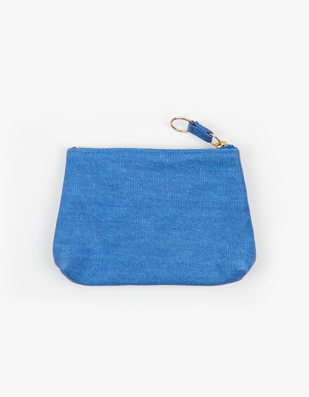 Small Guesset Pouch - Cobalt
