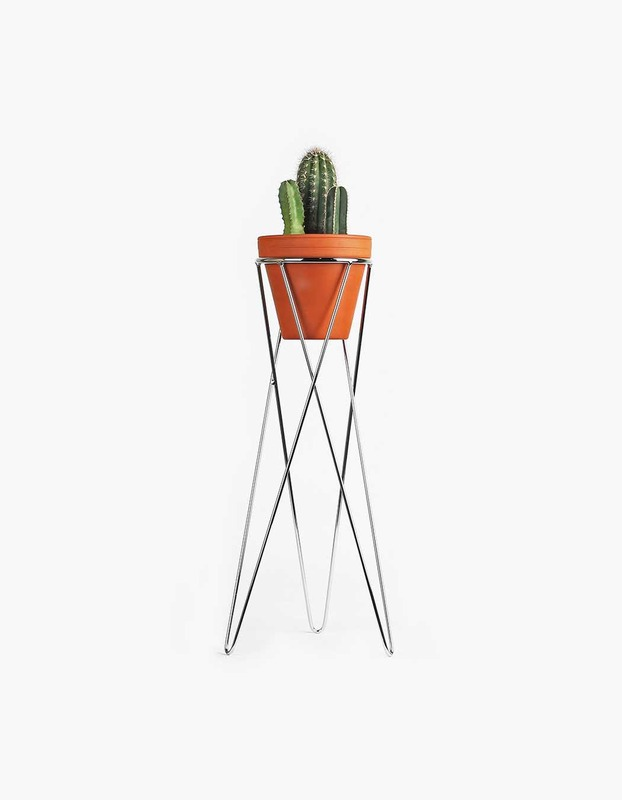 Plant Stand Large - Chrome