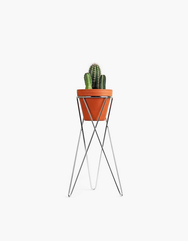 Plant Stand Medium - Chrome