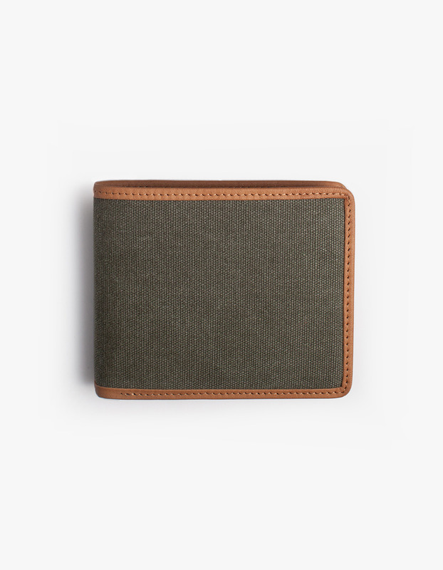 Leather-Trimmed Wallets - Olive