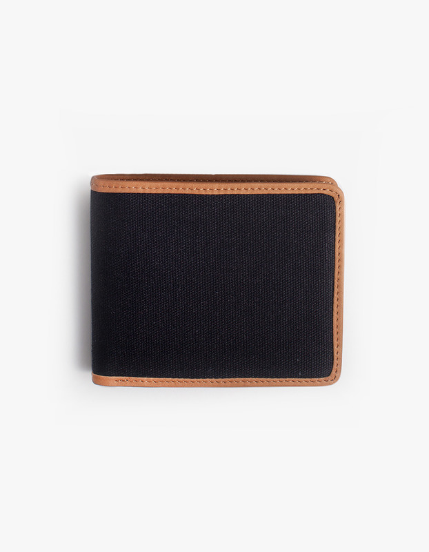 Leather-Trimmed Wallets - Black