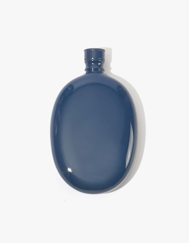Bar Oval Flask - Navy