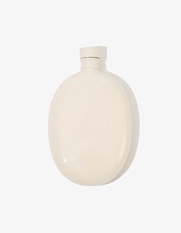 Bar Oval Flask - White
