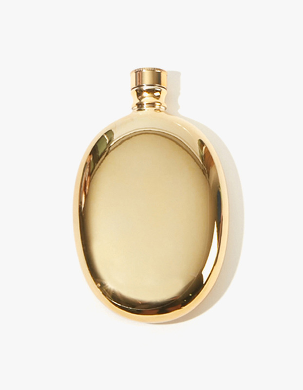 Bar Oval Flask - Gold
