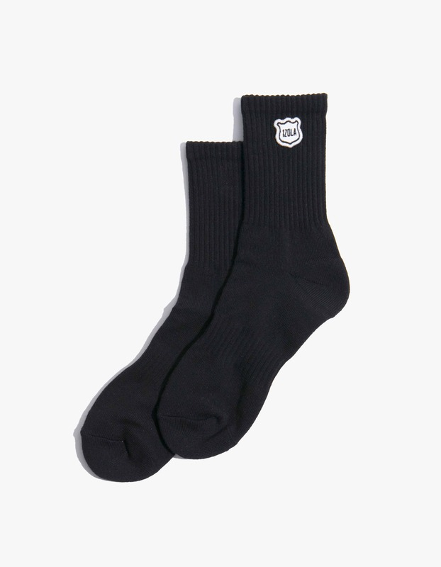 Izola Logo Socks - Black