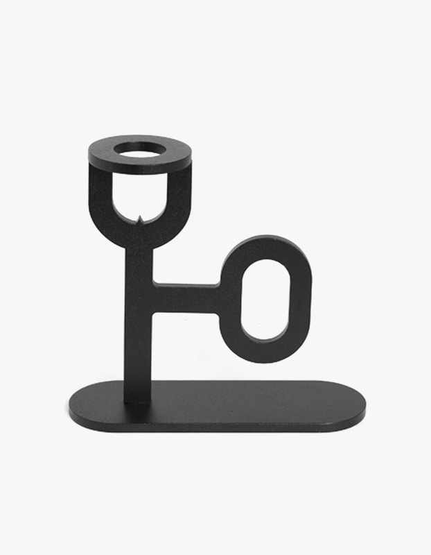 Pin Candle Holder - Black