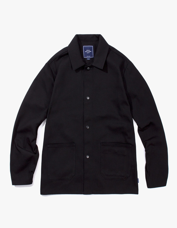 Cotton Twill Shop Jacket - Black