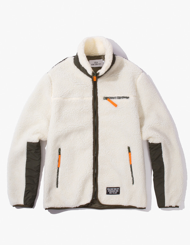 Fleece Zip-Up Jacket - Cream