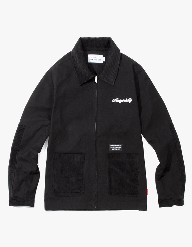 Oxford Cotton Work Jacket - Black