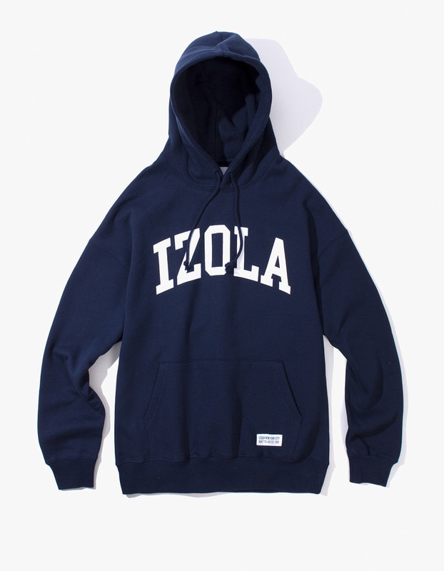 Arch Logo Pullover Hoodie - Navy
