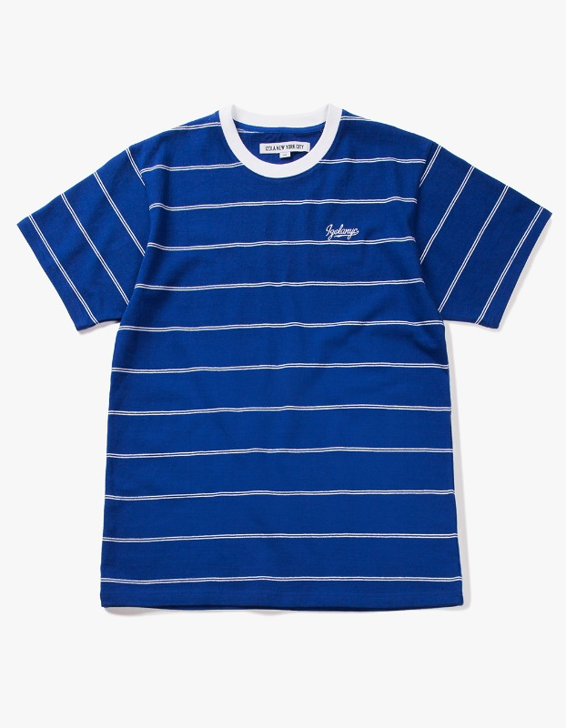 Pin Stripe S/S Tee - Blue