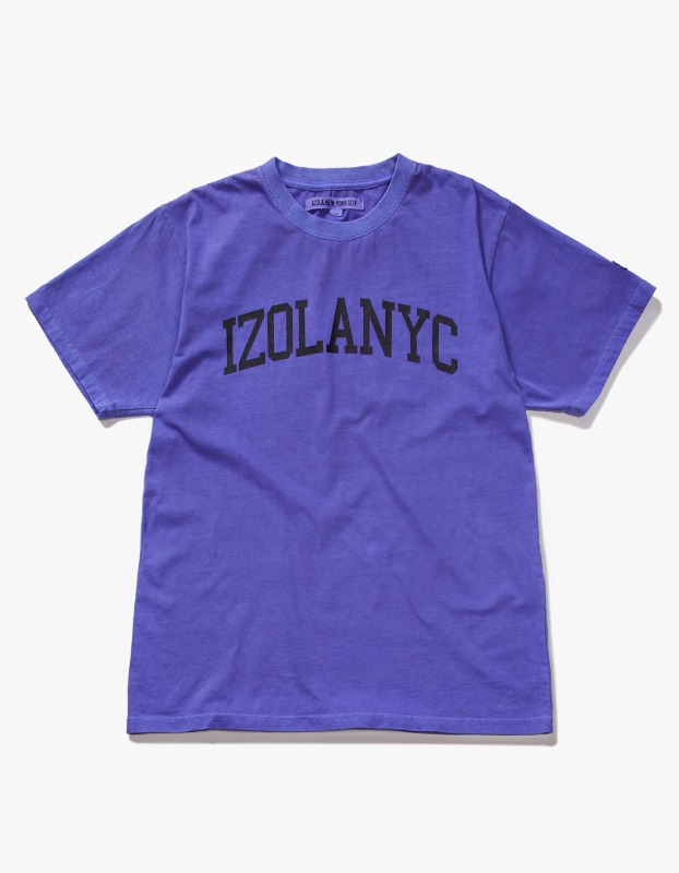 Over Dyed College S/S Tee - Purple