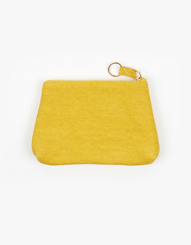 Small Guesset Pouch - Yellow