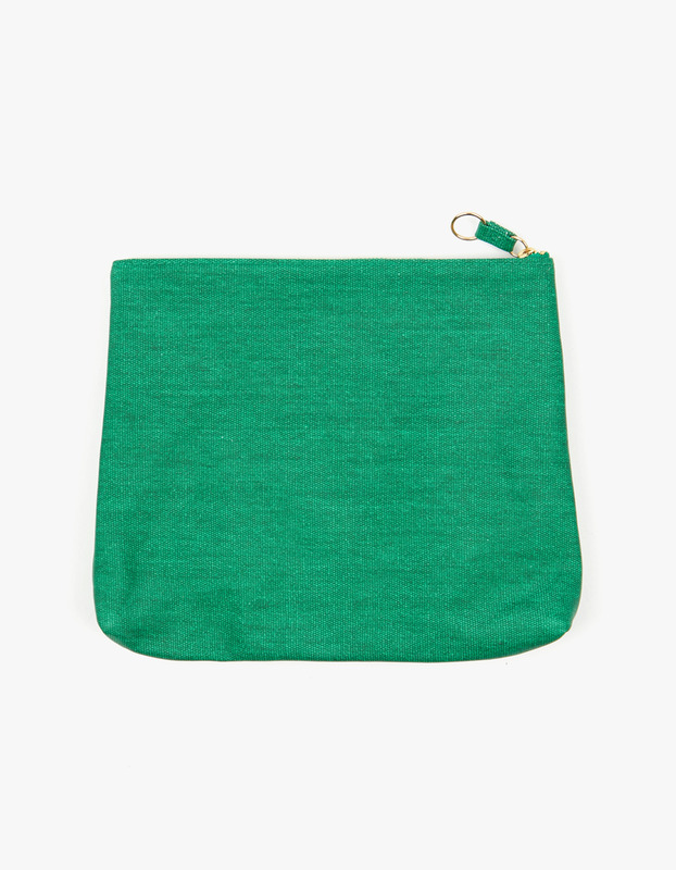 Large Guesset Pouch - Green