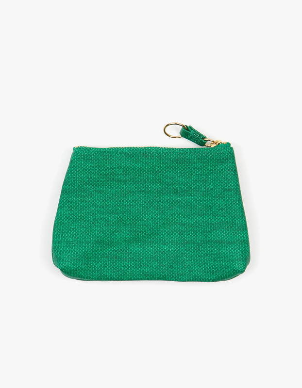 Small Guesset Pouch - Green