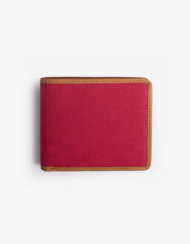 Leather-Trimmed Wallets - Red