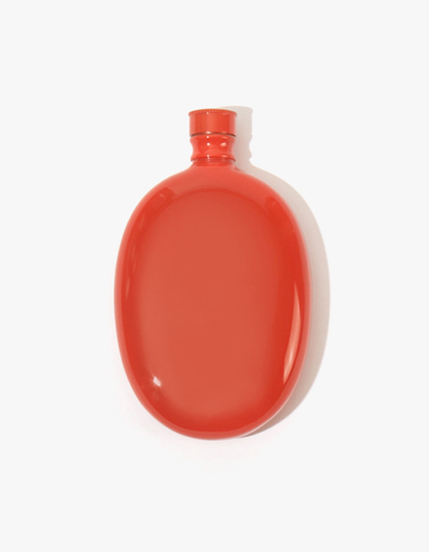 Bar Oval Flask - Red