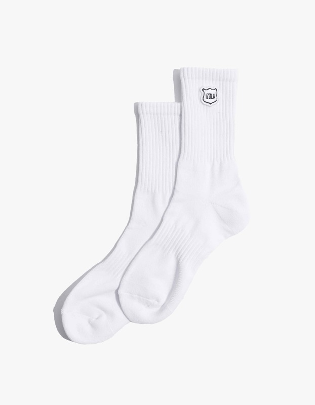 Izola Logo Socks - White