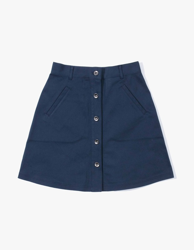 Izola High-Waisted Skirt - Navy