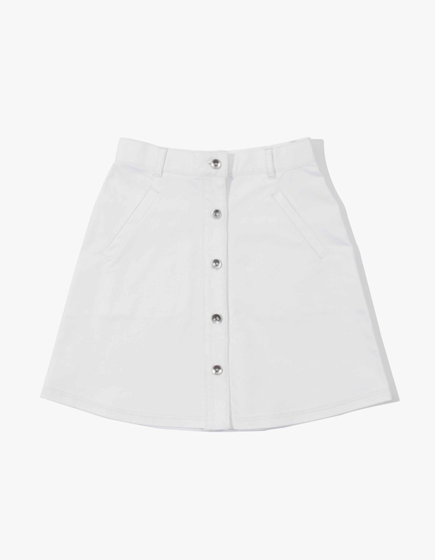 Izola High-Waisted Skirt - White