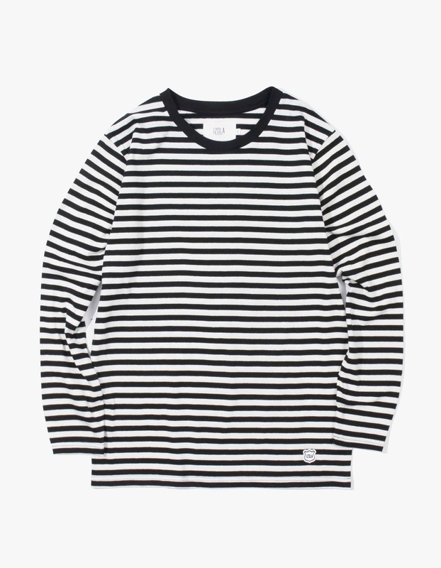 Stripe Long Sleeve T-Shirt - Black