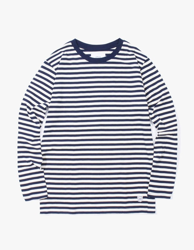 Stripe Long Sleeve T-Shirt - Navy