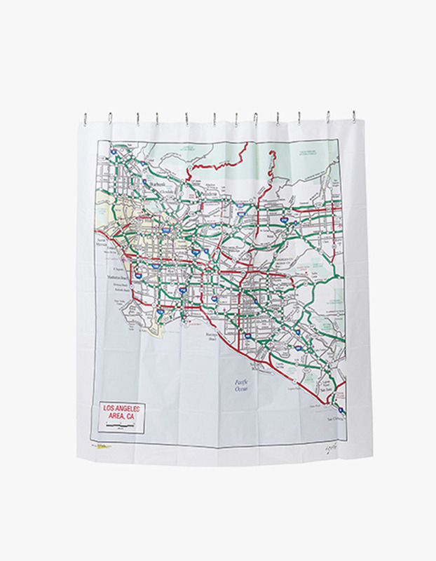 Los Angeles, CA Map Shower Curtain