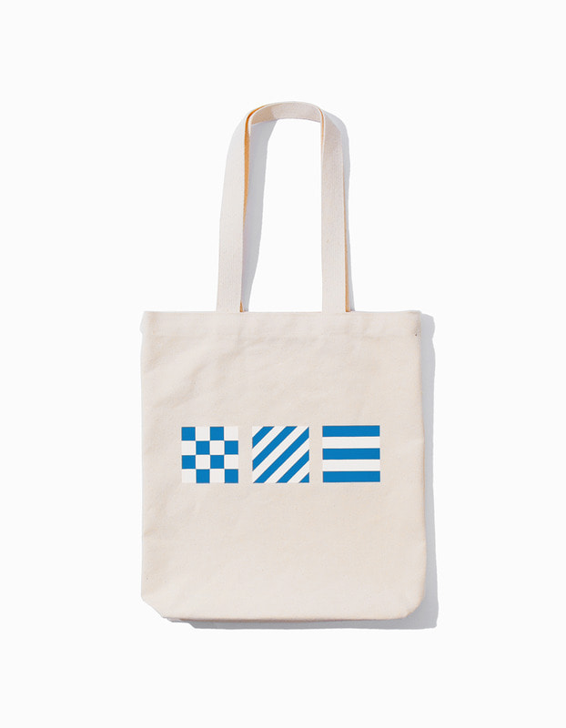 Signal Flag Tote Bag - Natural