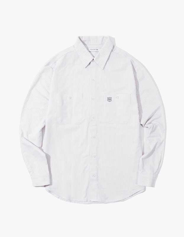 Stripe Oxford Shirt - Beige