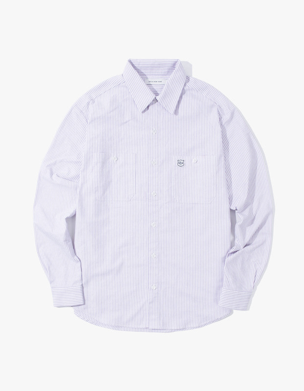Stripe Oxford Shirt - Purple