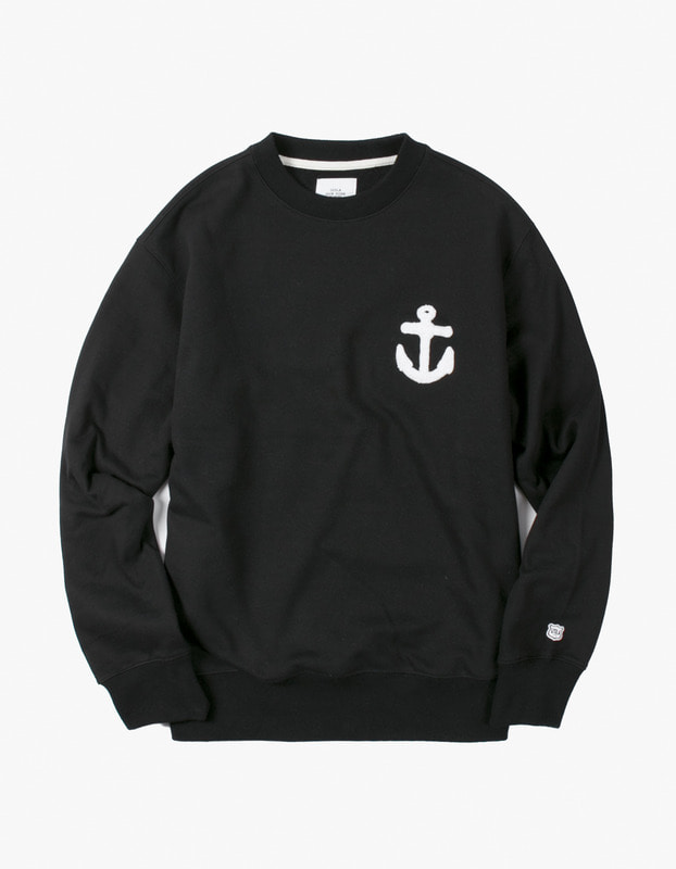 Anchor Crewneck - Black