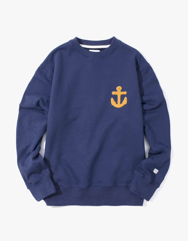 Anchor Crewneck - Navy