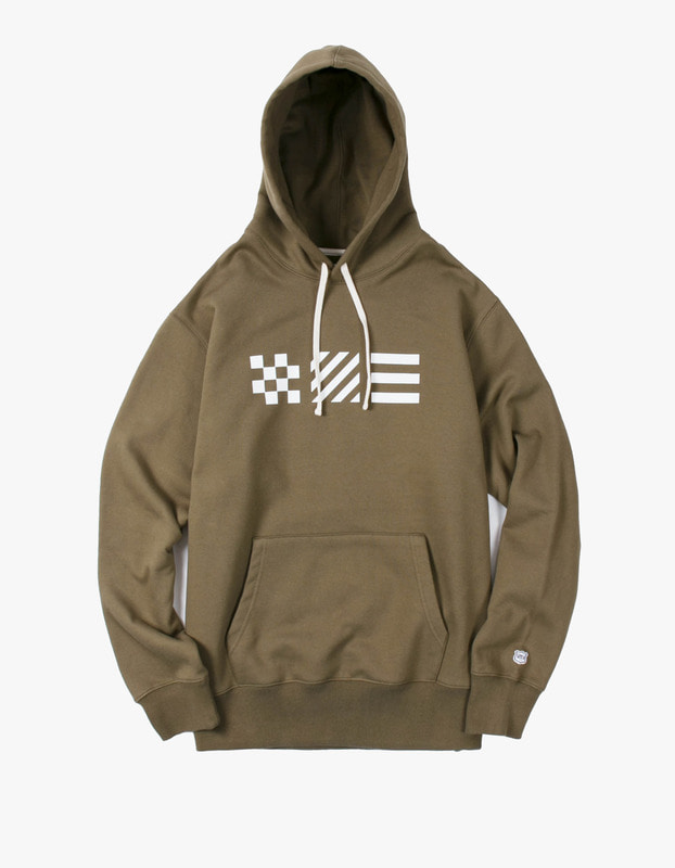 Signal Flag Pullover Hoodie - Olive