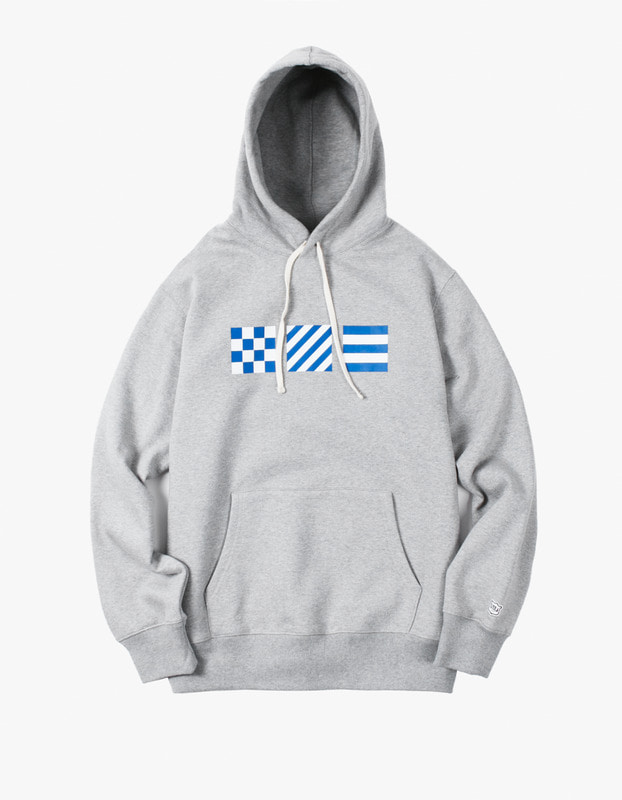 Signal Flag Pullover Hoodie - Grey