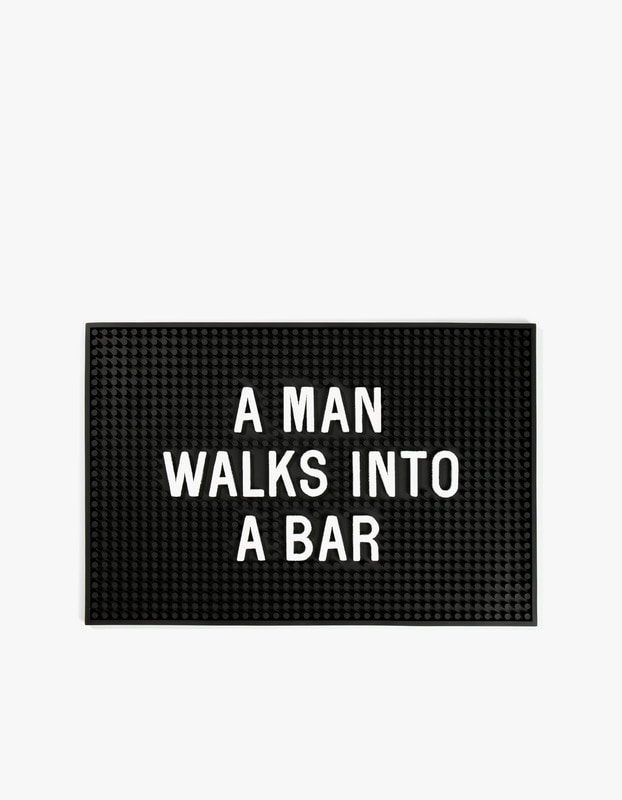 A Man Walks into Bar Mat