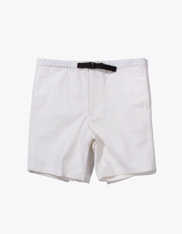 Cotton Twill Belted Short - Natural