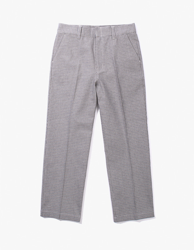 Check Buckel Trousers - Blue