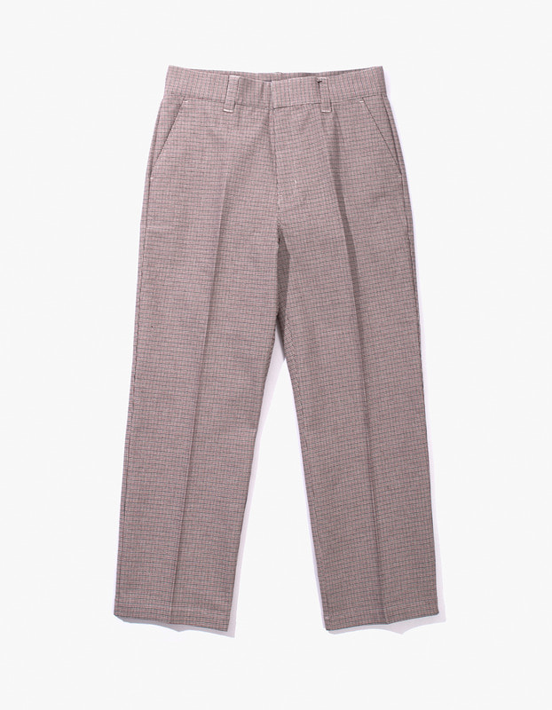 Check Buckel Trousers - Red