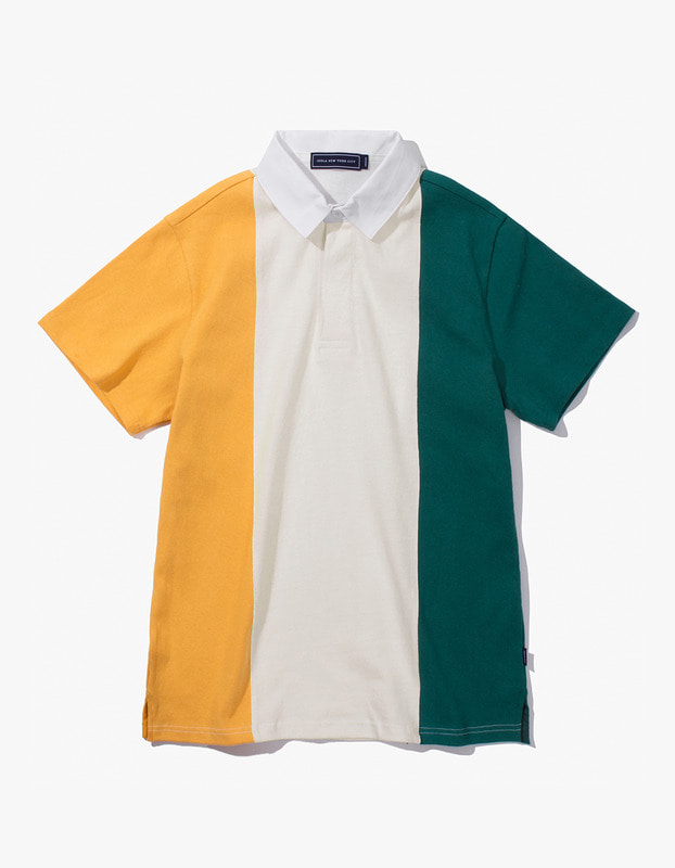 Tricolor Rugby S/S Tee - Yellow/Green