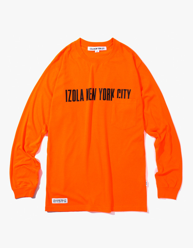 INYC L/S Pocket Tee - Neon Orange