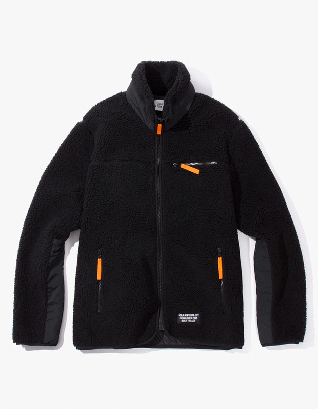 Fleece Zip-Up Jacket - Black