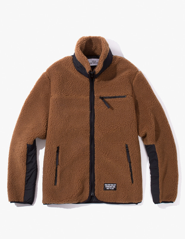 Fleece Zip-Up Jacket - Brown