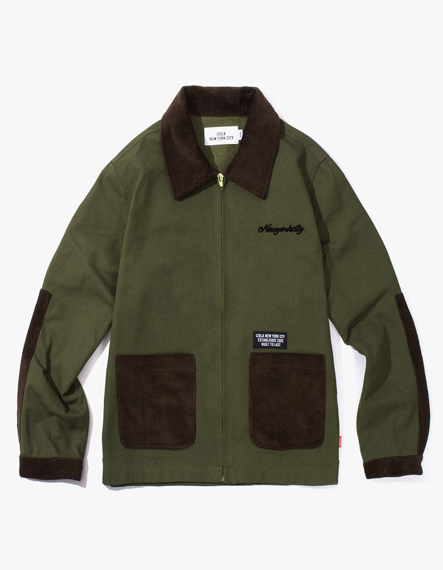 Oxford Cotton Work Jacket - Olive