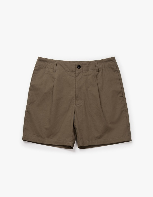 Pleated Pocket Shorts - Olive