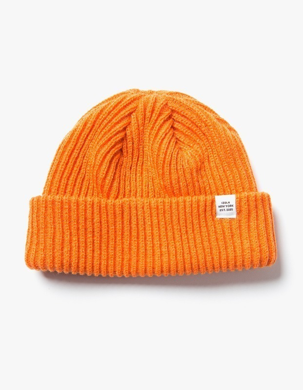Logo Short Beanie - Orange