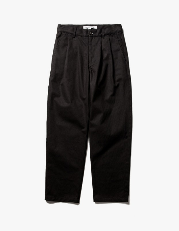 Wide Chino Pants - Black