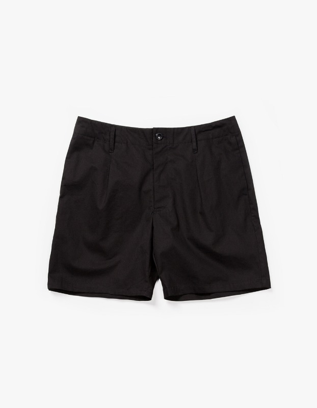 Pleated Pocket Shorts - Black