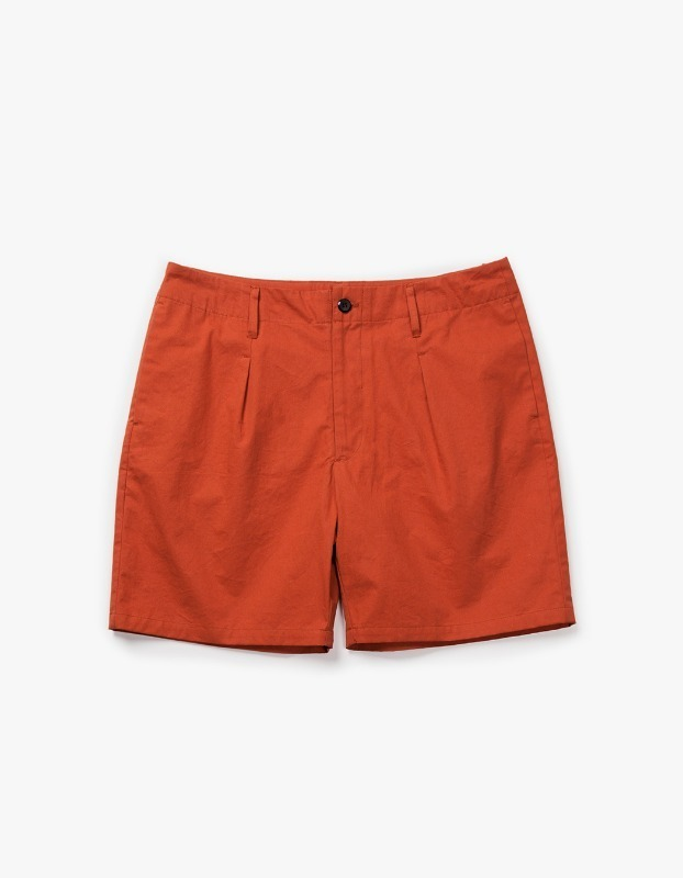 Pleated Pocket Shorts - Brick